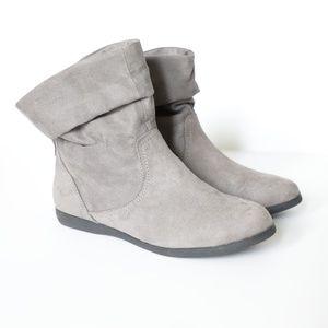 SO Women's Stapler Grey Slouch Booties  size 8